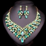 New Indian Crystal Necklace Earrings sets Bridal <b>Jewelry</b> Sets For Brides Wedding Party Costume Decoration <b>supplies</b> for <b>jewelry</b>