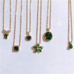 Vintage Emerald Necklace Pendants For Women S925 Sterling <b>Silver</b> Green Natural Gemstone 18K Gold Clavicle Chain Fine <b>Jewelry</b>