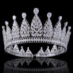 Cubic Zirconia <b>Wedding</b> Bridal Tiara Crown Diadem for Women Girl Hair Accessories <b>Jewelry</b>