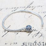 100% Authentic 925 Sterling <b>Silver</b> Bead Charm Snake Chain Fit Pandora <b>Bracelet</b> with Snowflake Clasp for Women DIY Jewelry Gift