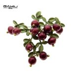 Cranberry Brooches For Women Fashion <b>Jewelry</b> Green Leaf Vintage Female Men Natural Pearls Paint Pins Scarves Buckle <b>Accessories</b>