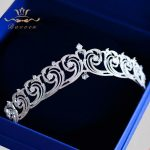 Sparkling Full Zircon Bride Tiaras Crowns Wedding Plated Crystal Hairbands Hair Accessories <b>Jewelry</b> Birthday Gifts For Girls