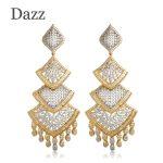 Dazz Long Pendant Dangle Earrings For Women Two Tone <b>Wedding</b> Party Tassel Ear <b>Jewelry</b> Accessory Dubai Indian Big Earring Aretes