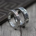 925 Sterling <b>Silver</b> <b>Jewelry</b> Personality Forever Couple Refers Ring Thai <b>Silver</b> Retro Unique Ring