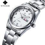 Luxury Brand Women Watches Women Quartz Date Analog Clock Ladies <b>Silver</b> Stainless Steel Casual Wrist Watch Female Montre Femme