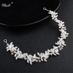 Miallo 2018 Newest Opal Crystal Leaves Headbands Wedding Hair Accessories Fashion <b>Handmade</b> Headpieces <b>Jewelry</b> Women Hair Vine