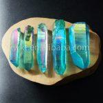 WT-G124 Gorgerous blue Aura crystal point Beautiful raw titanium crystal quartz point for <b>jewelry</b> <b>making</b>