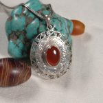<b>Handmade</b> 925 Silver Nepalese Good Luck Symbol Pendant Necklace Tibetan Red Stone Pendant Necklace Bohemia <b>Jewelry</b>