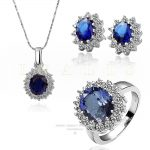2018 TOP <b>Jewelry</b> The New Sets Crystal From Swarovski Fashion <b>Jewelry</b> Pure Stainless Steel Earrings <b>Necklace</b> Ring