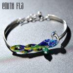925 Sterling <b>Silver</b> Chinese Style Original Bangle Female Cloisonne Bracelet Fashion <b>Jewelry</b> for Women Bracelets Resize