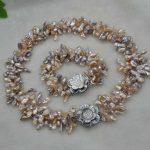 2018 New Indian Jewelry Bisuteria Necklace Set Wonderful Handmade Real Natural Pearl Sets Necklace & <b>Bracelet</b> Reborn Keshi