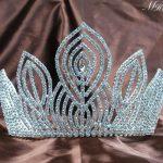 Fantastic Large 5.25″ Pageant Tiaras Handmade Brides Crowns Clear Rhinestone Silver Headband <b>Jewelry</b> Bridal <b>Wedding</b> Prom Party