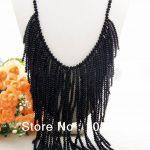 Beautiful! 23″ Black Crystal <b>Necklace</b>