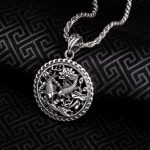 free shipping 925 Sterling <b>Silver</b> Soldier Vintage Jewelry Unique Whistle Design fish Bible Punk Skull Pendant <b>necklace</b>