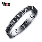 Vnox 100% Tungsten Chain Bracelet Bangle for Men Hematite Magnetic Health Care Male <b>Jewelry</b> free Box