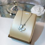 2 Colors High Quality Women Jewelry Natural Shell With Zircon Butterfly Pendant Real 925 Sterling <b>Silver</b> <b>Necklace</b>