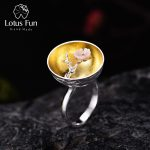 Lotus Fun Real 925 Sterling Silver Natural <b>Handmade</b> Fine <b>Jewelry</b> Flower Ring The Aroma of Wintersweet Rings for Women Bijoux