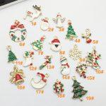 Christmas <b>Decorations</b> 19pcs Alloy Mixed Christmas Charms Set DIY <b>Jewellery</b> Pendants Xmas Holiday Decor New Year Kerst