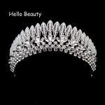 Vintage Elegant Crystal Luxury Tiara Rhinestone Bridal Crown Women Hair <b>Jewelry</b> Princess Hairwear Bride Wedding Hair Accessories