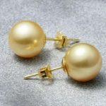 Selling Jewelry>>>charming AAA 10-11mm genuine south sea gold pearl <b>Earring</b>