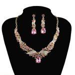 Crystal India Bridal <b>Jewelry</b> Fashion Sets African Elegant rhinestone Wedding Party necklace set for Women's dress <b>Accessories</b>