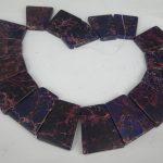 20pcs 30*40mm Purple Imperial Slice Beads, Top Drilled Slab Shape Gems Stone Beaded Accessories <b>Jewelry</b> <b>Making</b>
