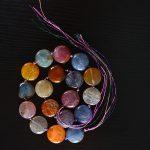 Emma Florence Romantic Handmade Colorful Natural Round Stone Pendants Rope Chain <b>Jewelry</b> <b>Making</b> DIY Women Bracelets/Necklaces
