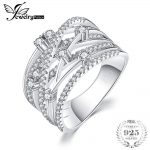 JewelryPalace Luxurious Round Wide Band Cocktail Ring For Women Genuine 925 Sterling <b>Silver</b> Wedding <b>Jewelry</b> Gift
