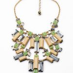 Trendy <b>Jewelry</b> <b>Accessories</b> Friendly Necklace Luxury Exaggerated Geometric Squares Large Pendant Female Necklace