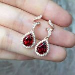natural red garnet stone drop <b>earrings</b> 925 <b>silver</b> Natural gemstone <b>earring</b> women personality wave drop <b>Earrings</b> for engagement