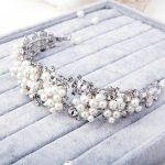 Hot New Fashion grapes Pearl Crown Rhinestone Headband Diadem Crystal Flower Bridal Hair <b>Jewelry</b> <b>Wedding</b> Dress Accessories Gift