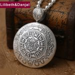 2017 Buddha Men Women Pendant S999 <b>Sterling</b> <b>silver</b> Ethnic Zodiac Necklace Pendant Mother Father Christmas Gift Fine <b>Jewelry</b> FP26