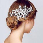 Gorgeous hair comb floral headband women pearl <b>jewelry</b> hairband bridal hair ornaments bride tiara <b>wedding</b> accessories