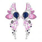 GODKI 70mm Pink Angel Wing Eye Fashion Multicolor Cubic Zirconia Women Dress Engagement Party <b>Wedding</b> Bridal Earring <b>Jewelry</b>