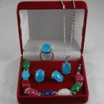 real silver-<b>jewelry</b> Women's Wedding shipping set 004260 shell pearl necklace, earing, bracelet , ring set