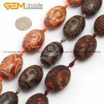 Olivary Vintage Dzi Beads Tibet Agates Beads For <b>Jewelry</b> <b>Making</b> 20X30mm 10pcs DIY FreeShipping Wholesale Gem-inside