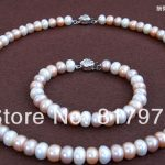 Classic Flower Colorful Natural Pearl AAA highlight pearl <b>Handmade</b> Necklaces Bracelet Set Freshwater Pearl women <b>Jewelry</b>