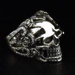 Japanese fashion <b>jewelry</b> Thai <b>silver</b> gold skull punk rings <b>sterling</b> <b>silver</b> rose carved skull claw