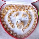 6*8mm white opal stone necklace bracelet <b>earring</b> ring Jewelry set>> plated watch wholesale Quartz stone CZ crystal
