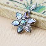 L060 Fashion colour abalone white seashells crafts plants plant flowers pendant,Fit beautiful women <b>jewelry</b> DIY <b>making</b> gift girl
