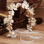 High-grade bride <b>handmade</b> <b>jewelry</b> pearl Conch Shell Crystal Ornament headdress Beach Wedding Hair Accessories