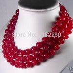 Best selling!12mm Red chalcedony round bead necklace 50 inch DIY stone women <b>jewelry</b> <b>making</b> design