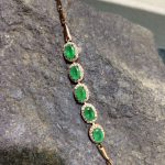ZHHIRY Natural Emerald Gem Bracelet Genuine Solid 925 <b>Sterling</b> <b>Silver</b> Precious Green Stone Women Prom Real Fine <b>Jewelry</b>