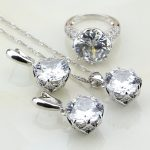 Wholesale 925 Sterling Silver <b>Jewelry</b> White Cubic Zirconia Costume <b>Jewelry</b> Sets For Women Wedding Earrings/Pendant/Necklace/Ring