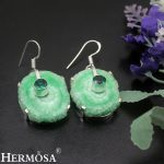 Special Christmas Gift Natural Green Solar Quartz Earring 925 Sterling Silver Earrings For Women <b>Handmade</b> <b>Jewelry</b> NY674