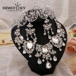 Gorgeous Large European Style Crystal Rhinestones Bridal Wedding <b>Jewelry</b> Sets Headpiece Statement <b>Necklace</b> Earrings 3pcs set