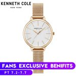 Kenneth Cole Womens Watches Rose Gold <b>Silver</b> Stainless Steel <b>Bracelet</b> KC15056011 Simple Quartz Luxury Brand Female Watches