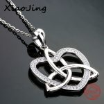 New arrival 925 sterling silver love heart pendant chain necklace with Cubic Zirconia diy fashion <b>jewelry</b> <b>making</b> women gifts