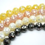 10mm 12mm 14mm Various Color Natural Small Shell Chips Glued Football Disco Round Loose Beads Fashion <b>Jewelry</b> <b>Making</b>