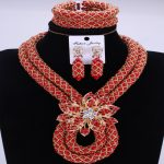 Fantastic African Beads <b>Jewelry</b> Set <b>Handmade</b> Crystal Bridal Necklace <b>Jewelry</b> Set Choker Women <b>Jewelry</b> Set Free Shipping 2018